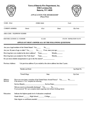 batavia fire department form