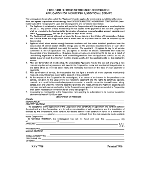 excelsior emc application form