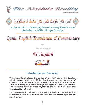 Surah Sajda - Fill Online, Printable, Fillable, Blank   PDFfiller