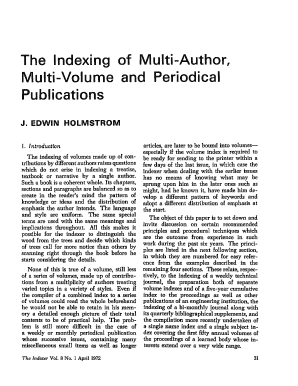 The Indexing of Multi-Author, - theindexer