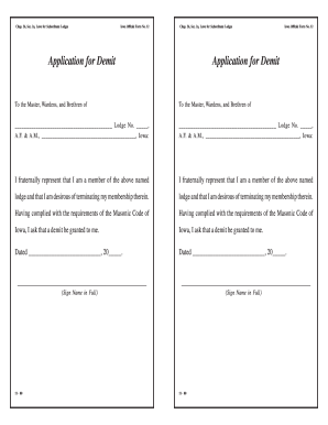 Application For A Demit - Fill Online, Printable, Fillable