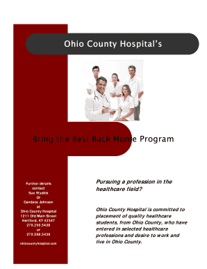 bring the best back home ohio county hospital form