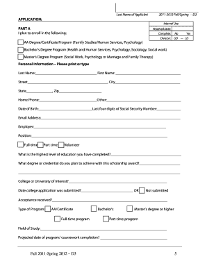 wet scholarship application form