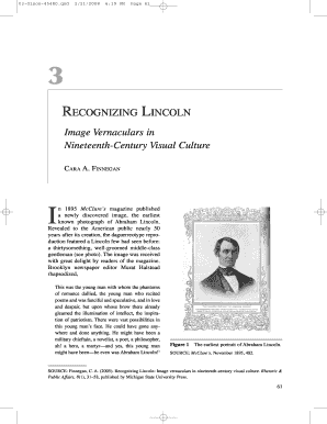 recognizing lincoln image vernaculars in 19 century visual culture form