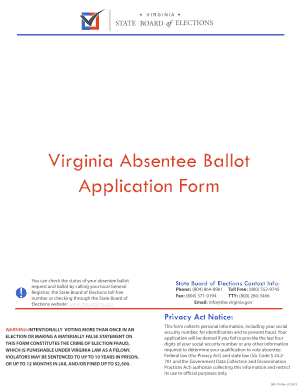 virginia absentee ballot mailing address form