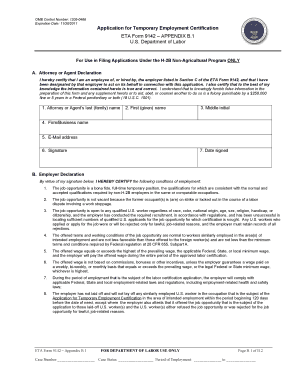 Eta Form 9142 Appendix B1 Fillable - Fill Online, Printable ...