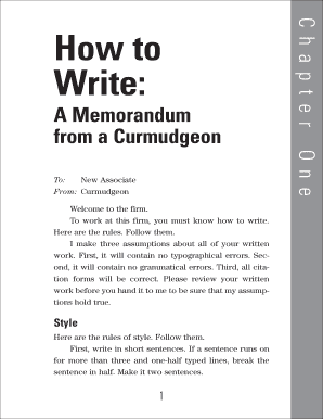 how to write a memorandum from a curmudgeon form