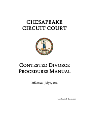 chesapeake contested divorce