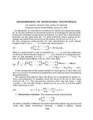 DETERMINANTS OF ORTHOGONAL POLYNOMIALS ... - ams