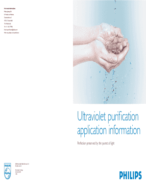 Ultraviolet purification application - Philips