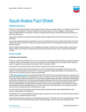 Saudi Arabia Fact Sheet - Chevron