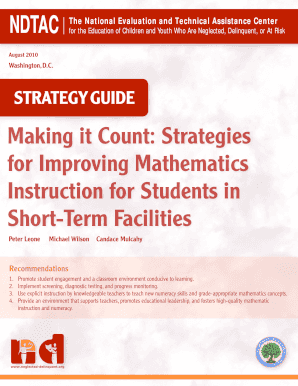 delinquent strategies for instruction form