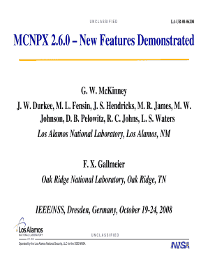 mcnpx 260 form