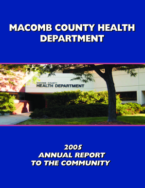 2005 - Annual Report ( PDF ) - Macomb County - macombcountymi