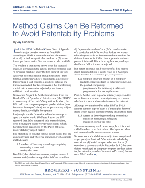 Method Claims Can Be Reformed to Avoid Patentability Problems