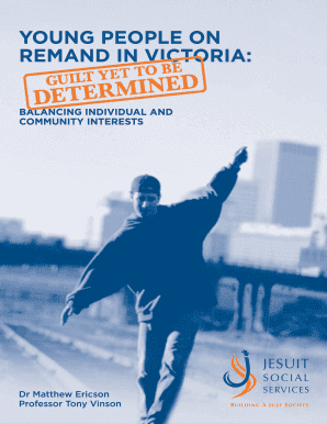 Young people on remand in Victoria - Jesuit Social Services - jss org