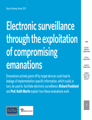 Electronic surveillance through the exploitation of compromising ...