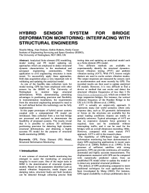 hybrid sensor system for bridge deformation monitoring