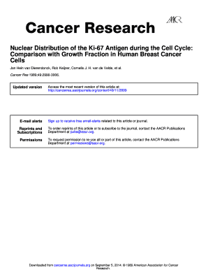 Nuclear Distribution of the Ki-67 Antigen during the Cell Cycle ... - cancerres aacrjournals
