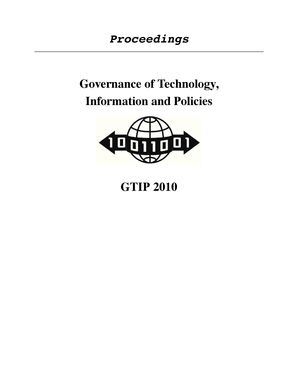 Proceedings Governance of Technology, Information and Policies ... - acsac