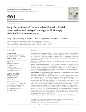 Long-Term Rates of Undetectable PSA with Initial ... - Urosource