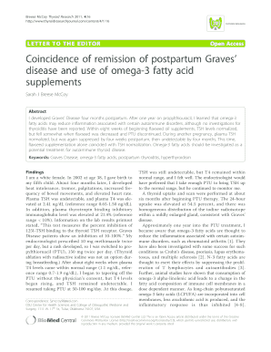 Coincidence of remission of postpartum Graves' disease and use of ...