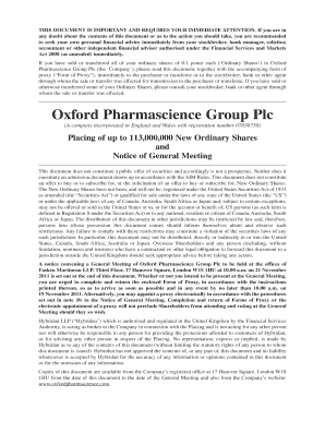 oxford pharmascience group plc email form