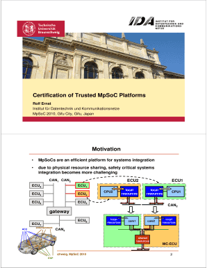 certification of trusted mpsoc platforms