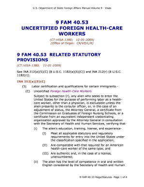 9 FAM 40.53 Unified Foreign Health Care Workers - state