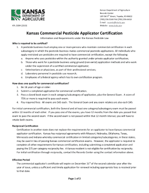 kansa certified pesticide applicator online form