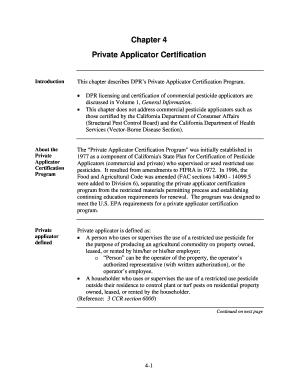 dpr private applicator certificate application form