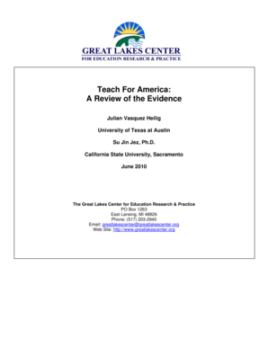 Teach For America: A Review of the Evidence - greatlakescenter