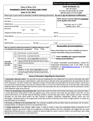 new york pharmacy part iii scheduling form 2012