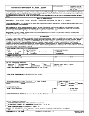 Dd Form 137 7 - Fill Online, Printable, Fillable, Blank | PDFfiller