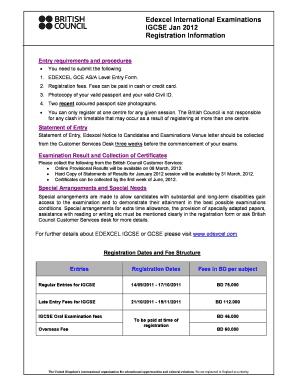 edexcel igcse january 2012 papers form