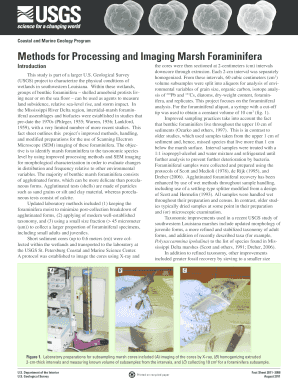 Methods for Processing and Imaging Marsh Foraminifera - USGS - pubs usgs