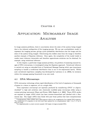 Application: Microarray Image Analysis - John Winn - johnwinn