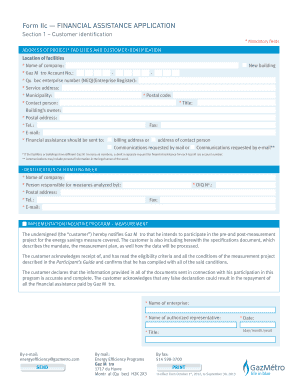 Form IIc FINANCIAL ASSISTANCE APPLICATION