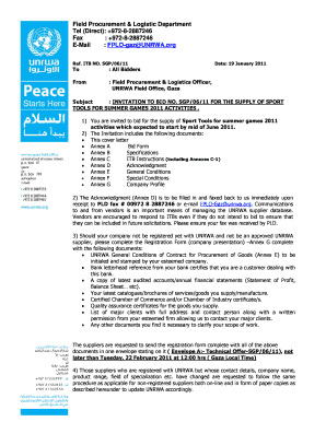 procurement notices unrwa form