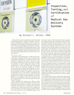 Inspection, Testing, and Certification of Medical Gas Delivery Systems - mgpho
