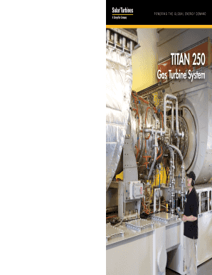 solar titan 250 gas turbine form