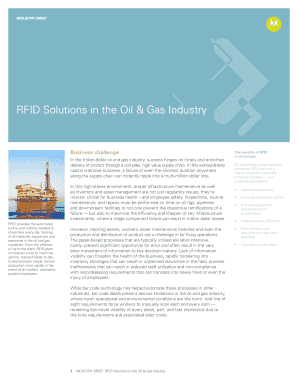 RFID Solution in the Oil & Gas Industry - Motorola