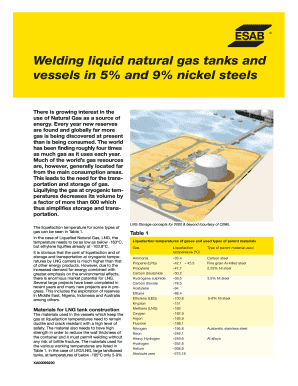 welding liquid natural gas tanks and vessel esab form