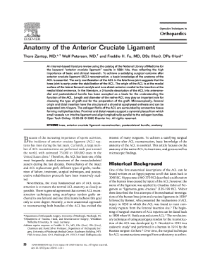 anatomy of the anterior cruciate ligament thore zantop md* wolf petersen md and freddie h fu md dsc hon dps hon* form