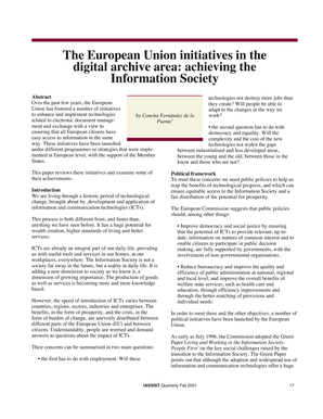 The European Union initiatives in the digital archive - IASSIST Home - iassistdata