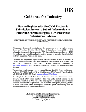 Guidance for Industry #108 - Food and Drug Administration - fda