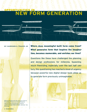 NEW FORM GENERATION - ced berkeley