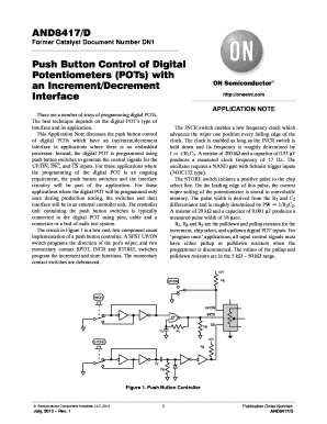 push button control of digitally programmable potentiometers form