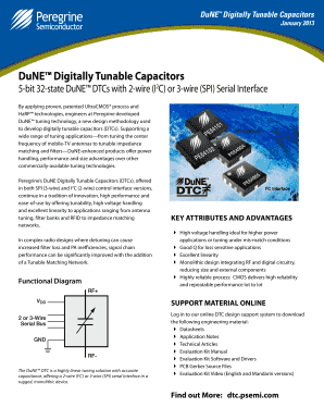 Find out More: dtc. psemi .com DuNE Digitally Tunable Capacitors