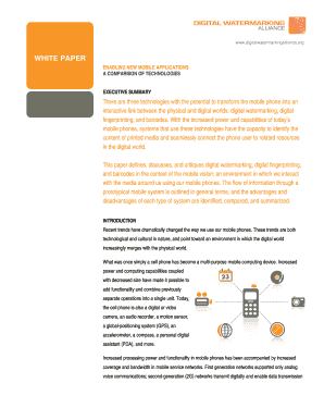 WHITE PAPER - Digital Watermarking Alliance - digitalwatermarkingalliance